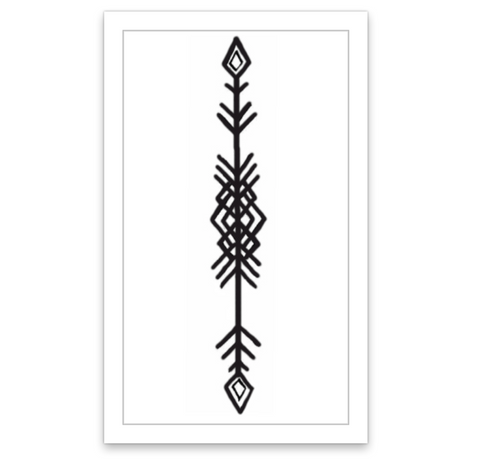 INKED by dani Temporary Tattoos - Tribal Arrow