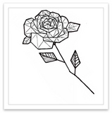 INKED by dani Temporary Tattoos - Geometric Rose