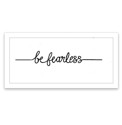 INKED by dani Temporary Tattoos - Be Fearless