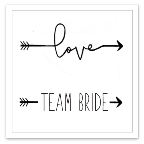 INKED by dani Temporary Tattoos - For Team Bride