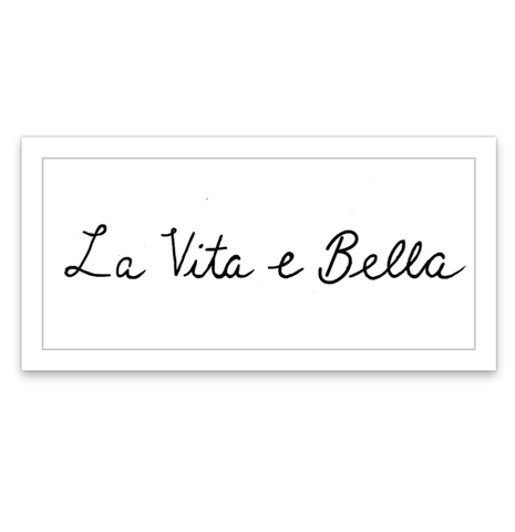 INKED by dani Temporary Tattoos - La Vita E Bella