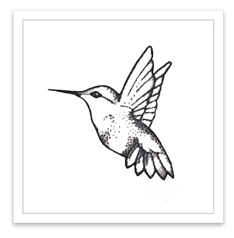 INKED by dani Temporary Tattoos - Hummingbird