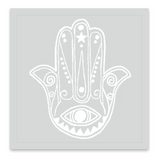INKED by dani Temporary Tattoos - Ivory Hamsa