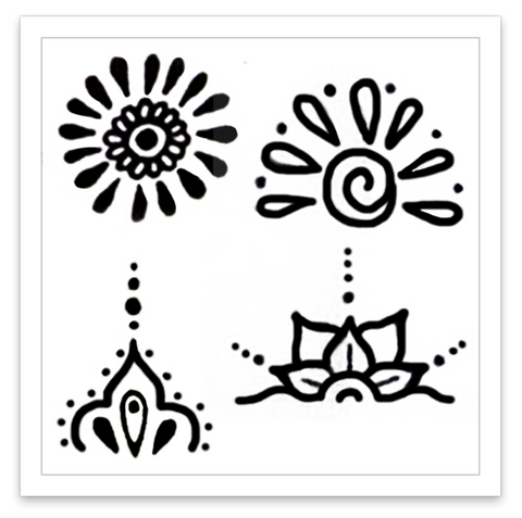 INKED by dani Temporary Tattoos - Blooming Bursts