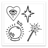 INKED by dani Temporary Tattoos - Fortune Teller