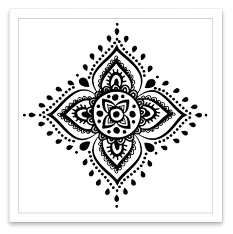 INKED by dani Temporary Tattoos - Mandala Flower