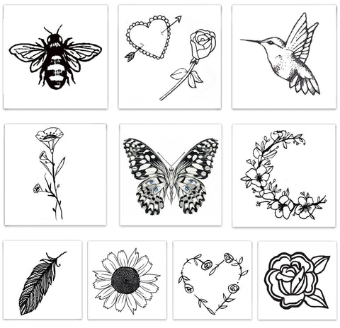 INKED by dani Temporary Tattoos - Embroidered Pack