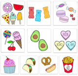 INKED by dani Temporary Tattoos - Foodie Pack