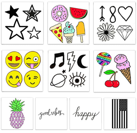 INKED by dani Temporary Tattoos - Fun Pack