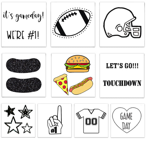 INKED by dani Temporary Tattoos - The Game Day Pack