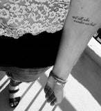 INKED by dani Temporary Tattoos - Not All Who Wander Are Lost