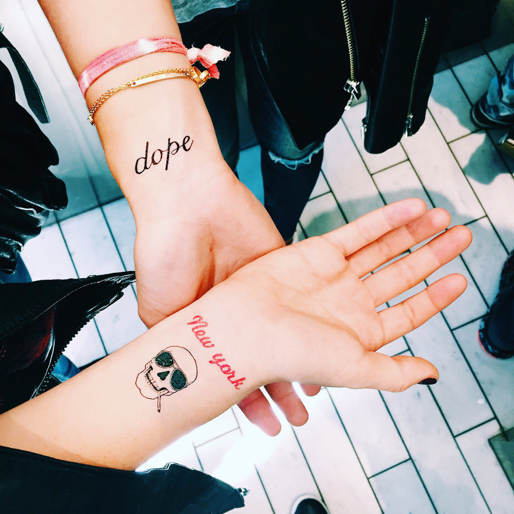 inked by dani temporary tattoos dope