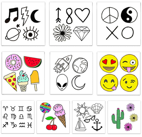 INKED by dani Temporary Tattoos - Mini Pack