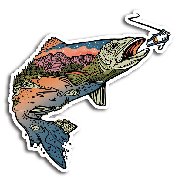 Gone Fishin CO Sticker
