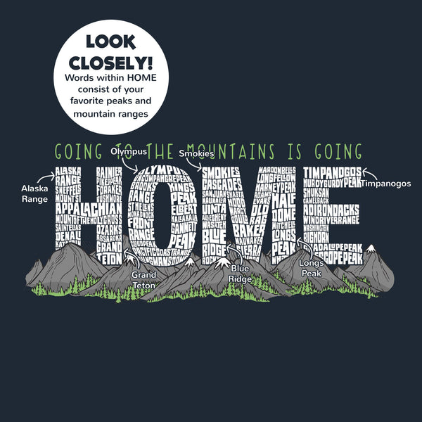 Women's Going To The Mountains Is Going Home Athletic T-Shirt