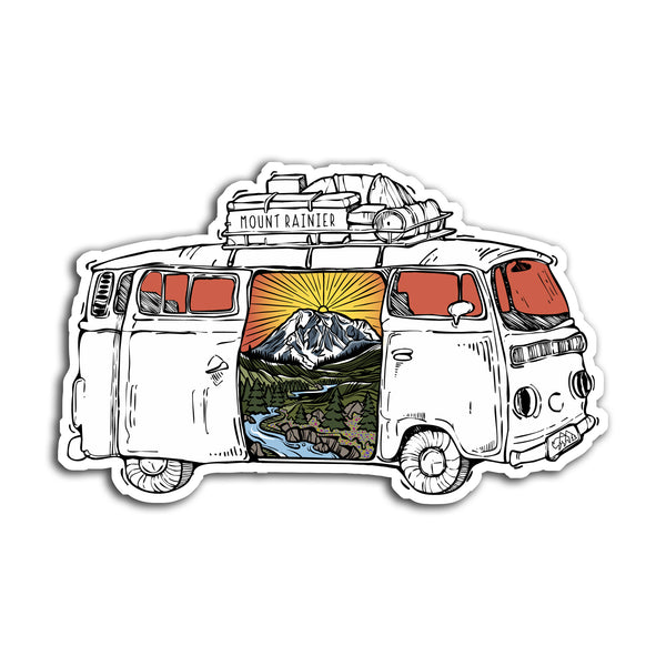 Mount Rainier Road Trip Sticker