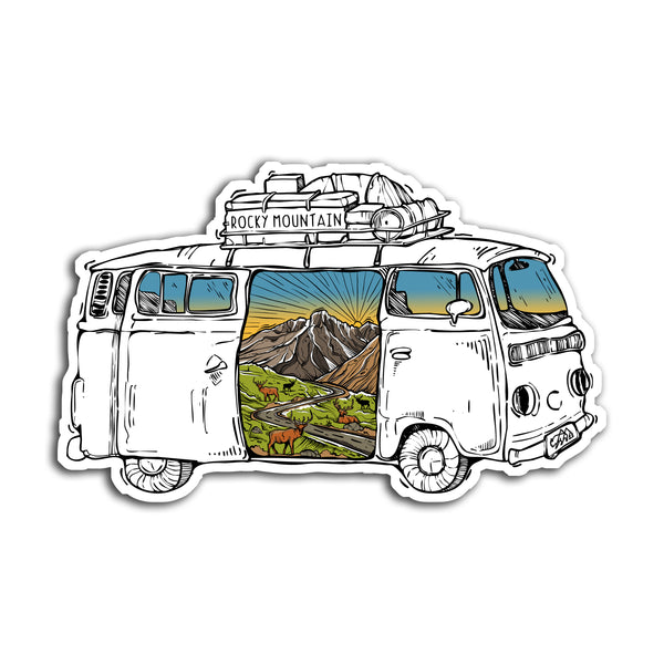 Rocky Mountain Road Trip Sticker