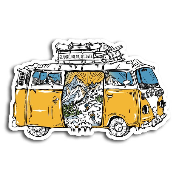 Winter Road Trip Sticker