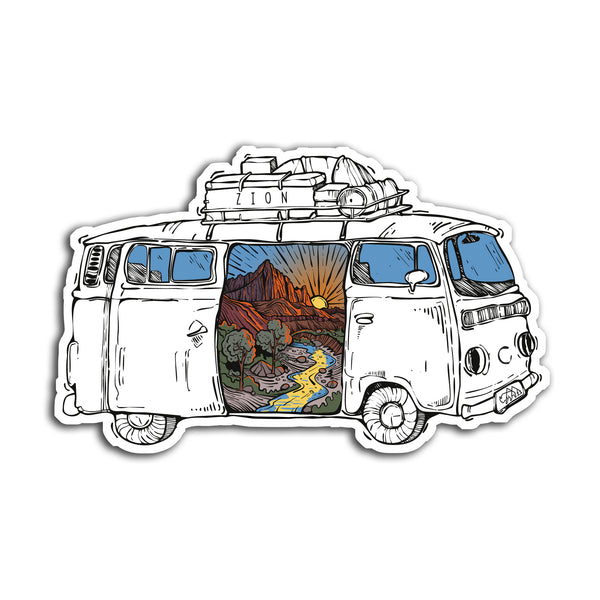 Zion Road Trip Sticker