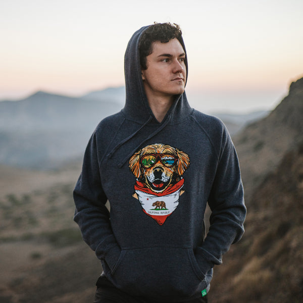 Maximus the California Mountain Dog Hoodie Sweatshirt
