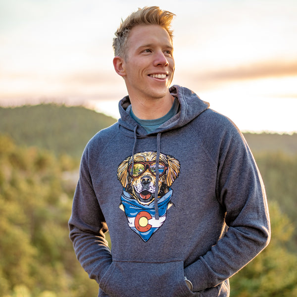Maximus the CO Mountain Dog Hoodie Sweatshirt