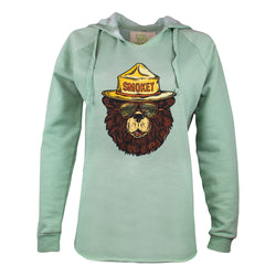 Women's Smokey the Groovy Bear Hooded Sweatshirt