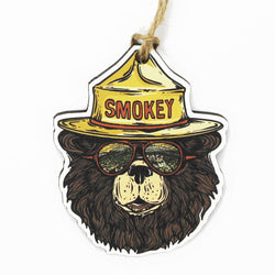 Smokey the Groovy Bear Wooden Ornament