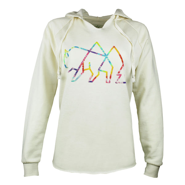Women's Wild Tribute Tie Dye Logo Hooded Sweatshirt
