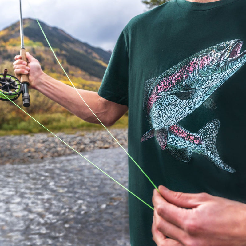 Fly Fishing Rainbow Trout Tribute T-Shirt