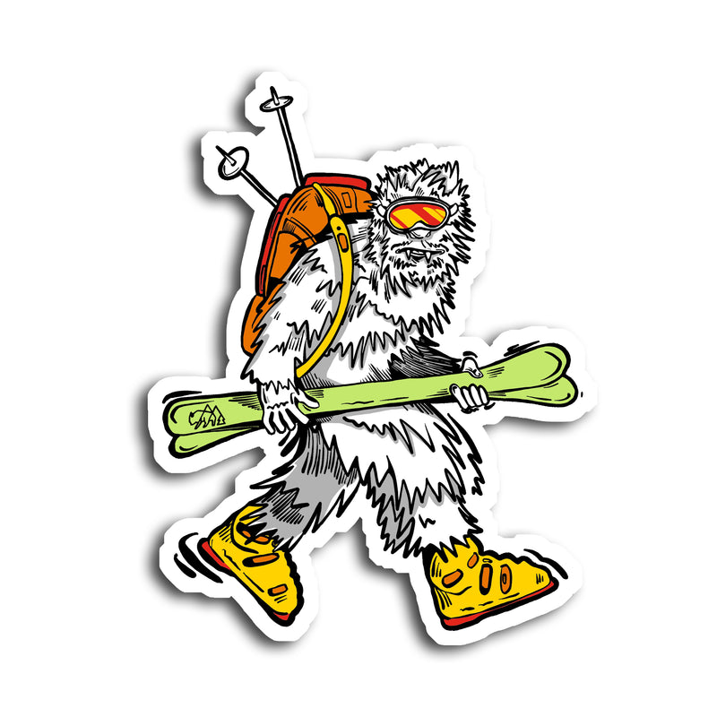 Where Yeti's Roam Sticker