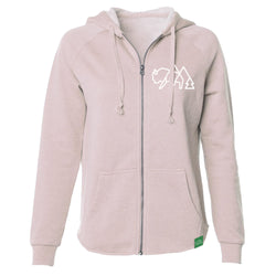 Women's Embroidered Wild Tribute Logo Zipper Hoodie