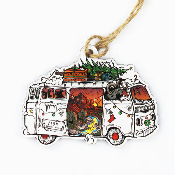Zion Christmas Road Trip Acrylic Ornament