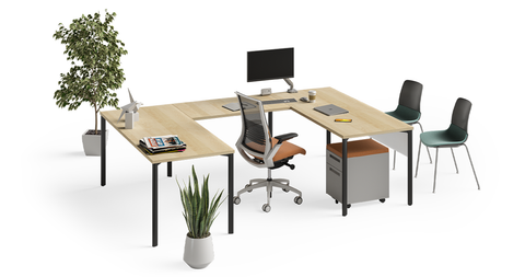 Products pictured:  Mobio Desk, Tensor Chair