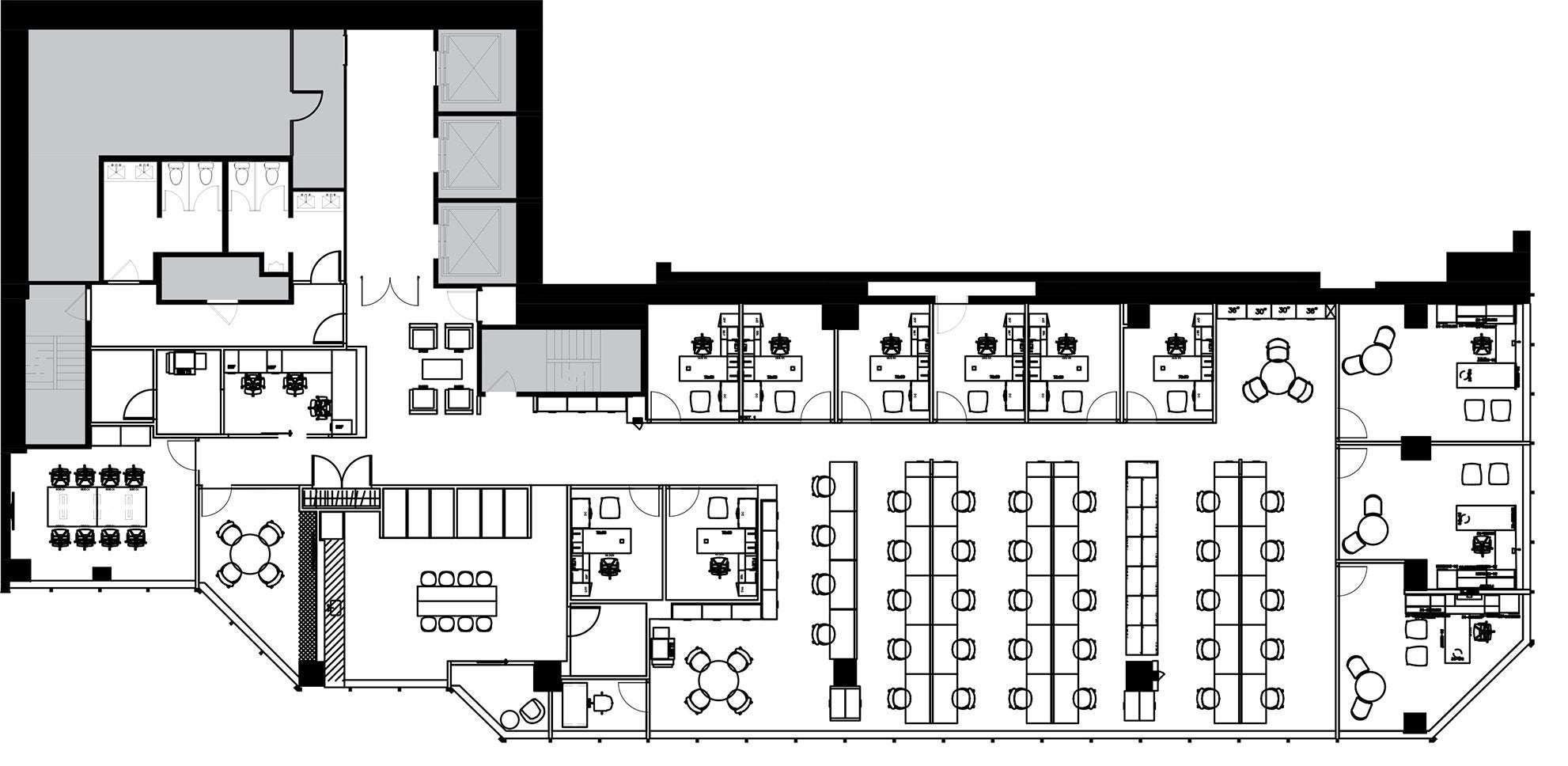 Furniture plan of the client's space