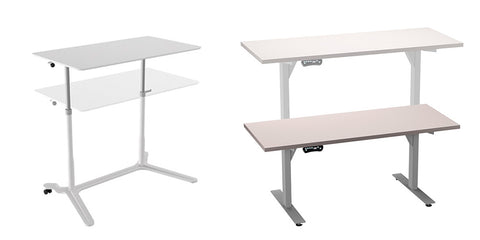 The HiLo and Pronto Height Adjustable Tables