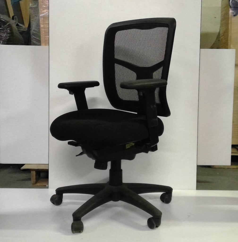 Sale Mesh Back Fabric Seat Ergonomic Chair with Multi Adjustments #1037 - Office Furniture Heaven