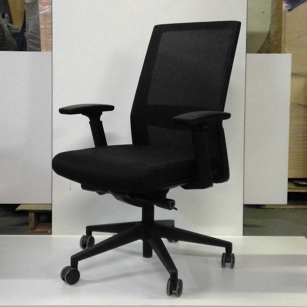 Sale Black Chair with Mesh Back and Fabric Seat #1045 - Office Furniture Heaven