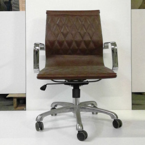 Sale Brown Vinyl Chair #1070 - Office Furniture Heaven