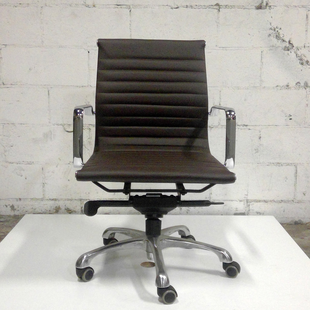 Sale Robin Lowback Brown Leather #1105 - Office Furniture Heaven