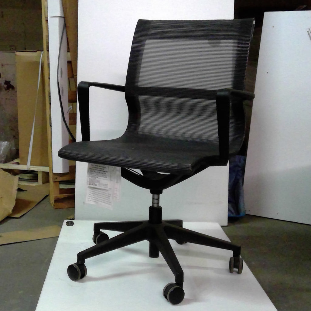 Sale Wobi Bradley Mesh Lowback Chair (Black) #1107 - Office Furniture Heaven