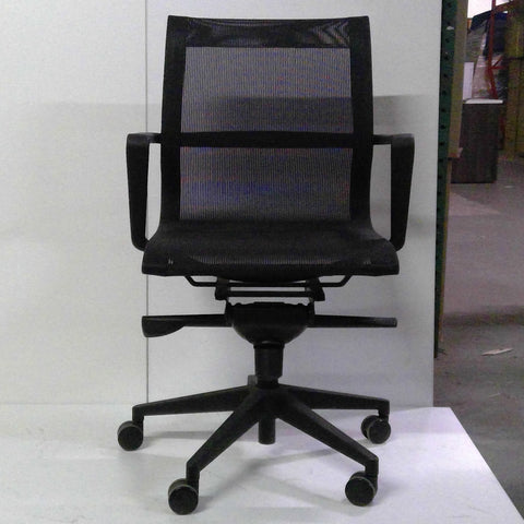 Sale Wobi Bradley Mesh Lowback Chair (Black) #1507 - Office Furniture Heaven