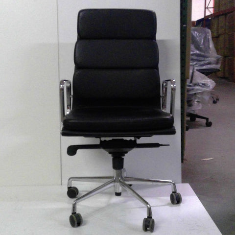 Sale Wobi Clyde Highback Chair (Black Leather) #1511 - Office Furniture Heaven