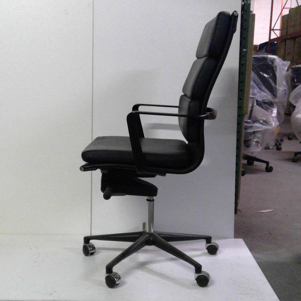 Sale Wobi Clyde Highback Chair (Black Leather) #1513 - Office Furniture Heaven