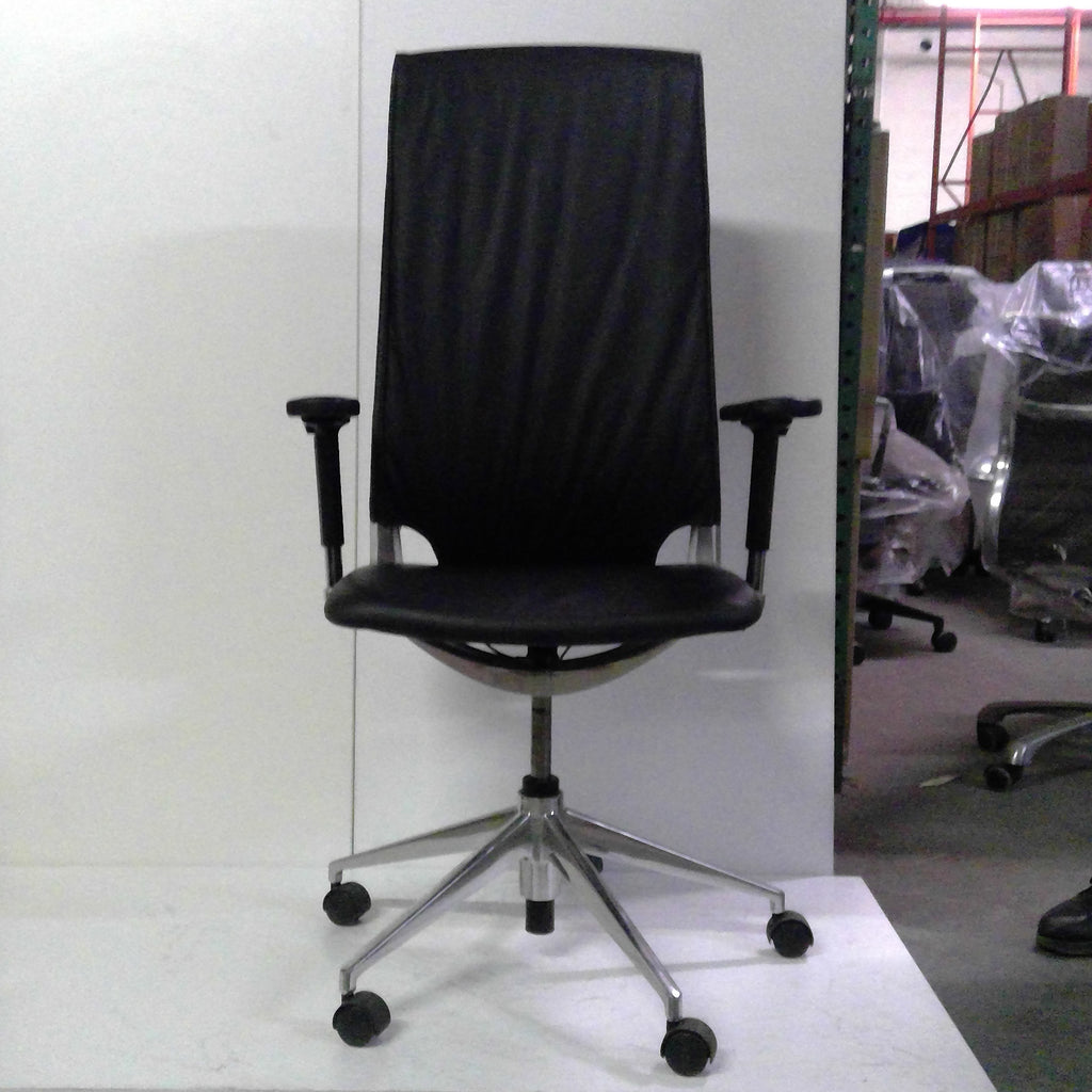 Sale Wobi Marco Highback Chair (Black Leather) #1518 - Office Furniture Heaven