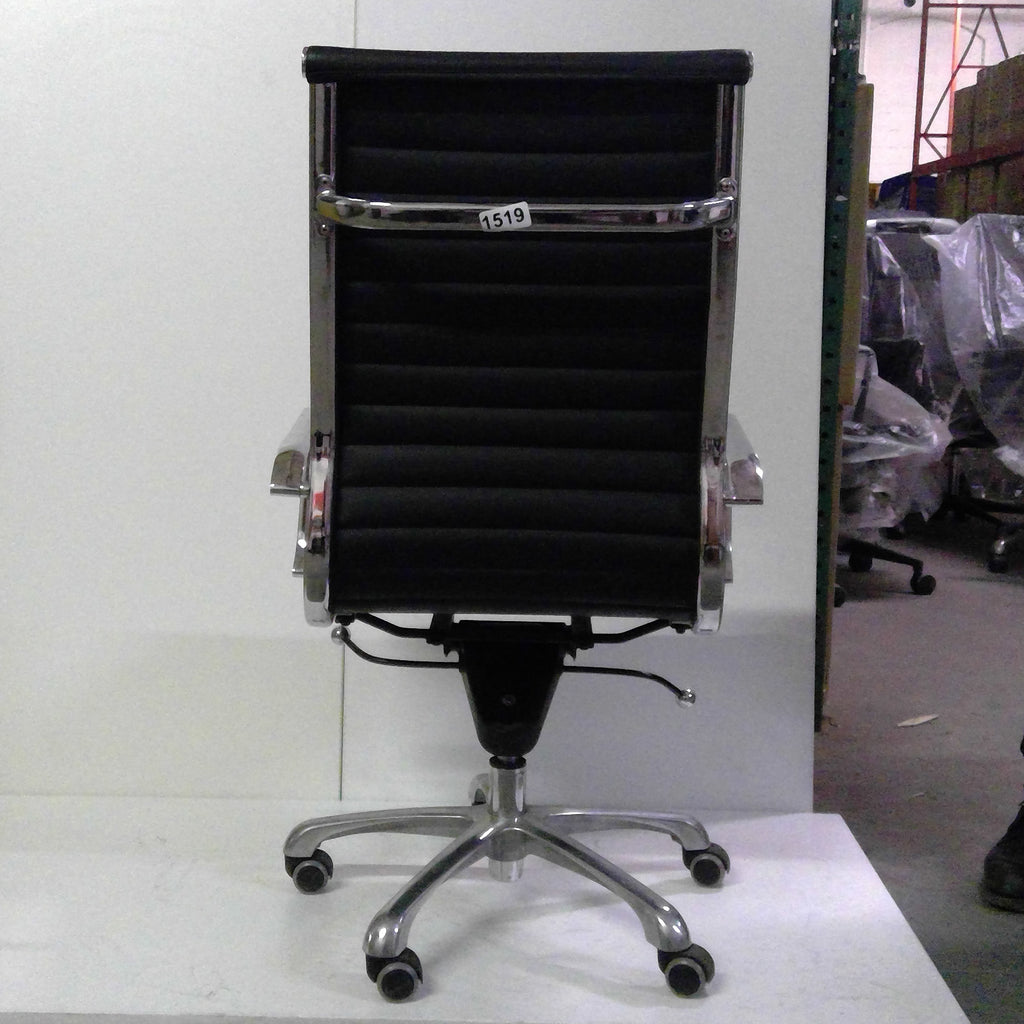 Sale Wobi Reed Highback Chair (Black Leather) #1519 - Office Furniture Heaven