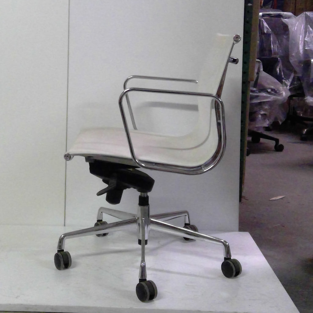 Sale Wobi Reed Lowback Chair (White Mesh) #1521 - Office Furniture Heaven