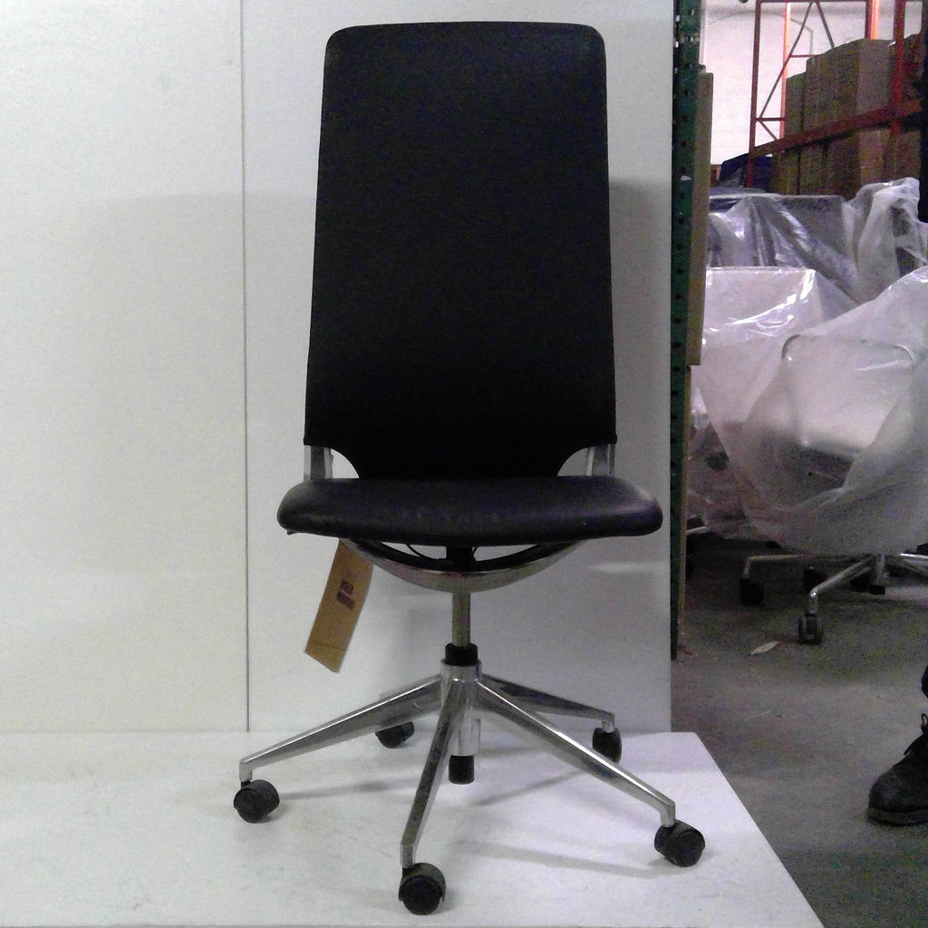 Sale Marco Highback Chair (Black Leather) #1523 - Office Furniture Heaven