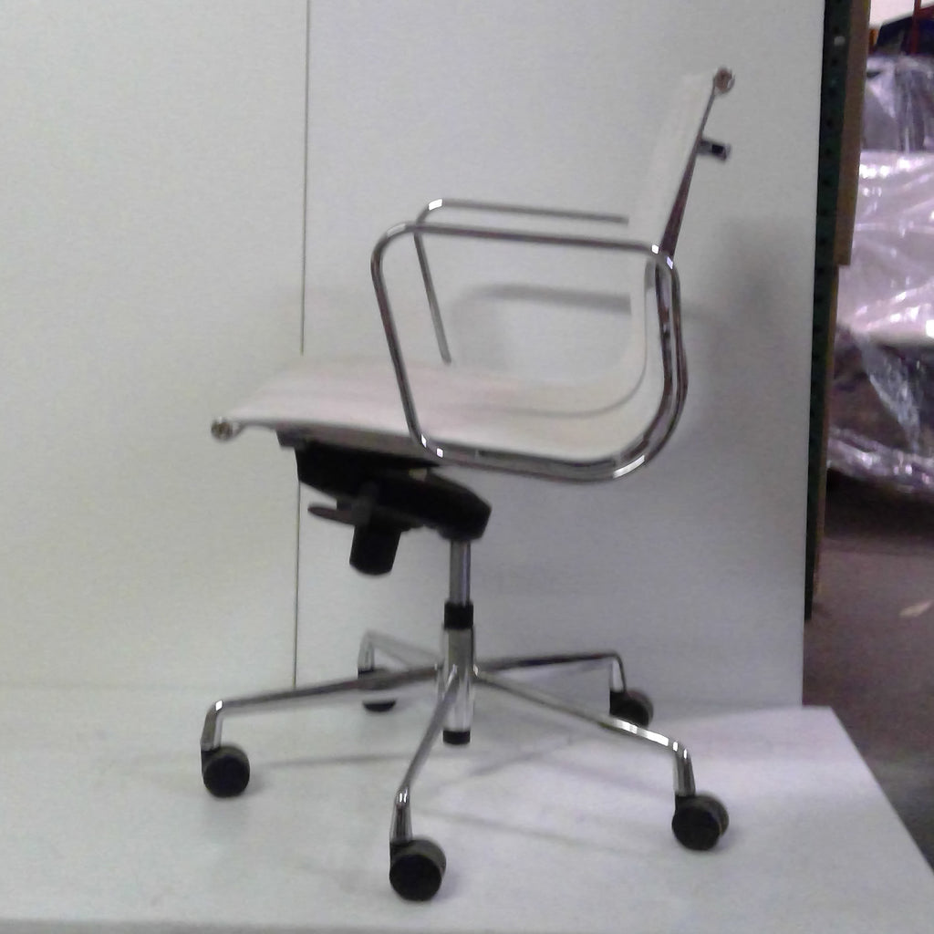 Sale Wobi Reed Lowback Chair (White Mesh) #1524 - Office Furniture Heaven
