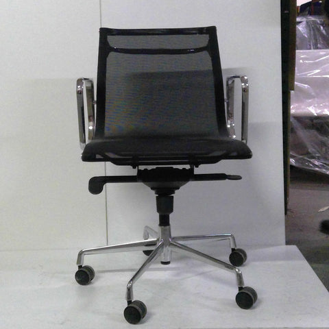 Sale Wobi Reed Lowback Chair (Black Mesh) #1528 - Office Furniture Heaven