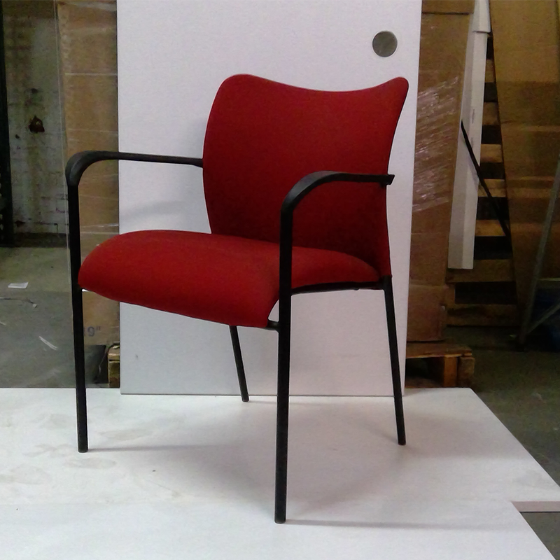 Sale Red Visitor's Chair #2006 - Office Furniture Heaven